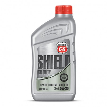 LUBRICANTE PHILLIPS 66 SHIELD CHOICE SYNTHETIC BLEND 5W30,  CUARTOS