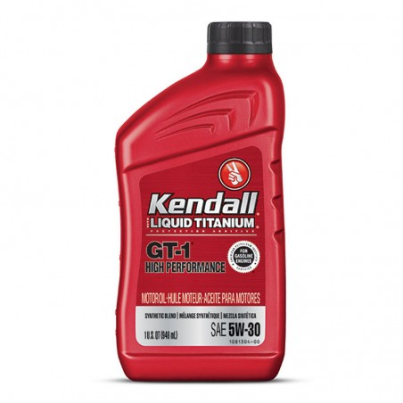 LUBRICANTE KENDALL GT-1 HIGH PERFORMANCE SYNTHETIC BLEND  SAE 5W30 ,   CUARTOS